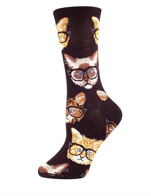 Smart Kittens Black Men's Socks