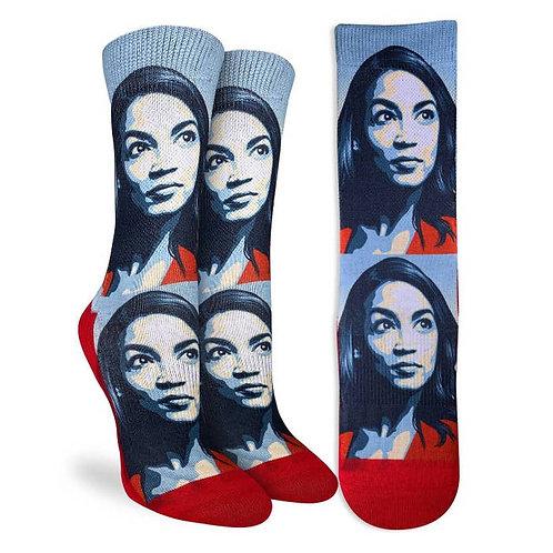 Alexandria Ocasio-Cortez AOC Socks