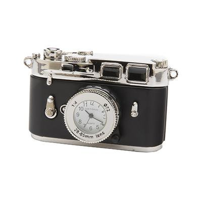 Miniature Camera Clock Black