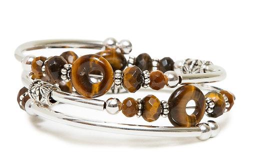 Tiger Eye Spiral Bracelet