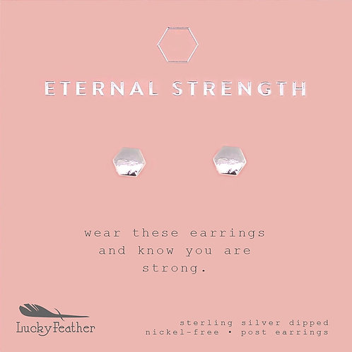 Hexagon- Eternal Strength Earrings