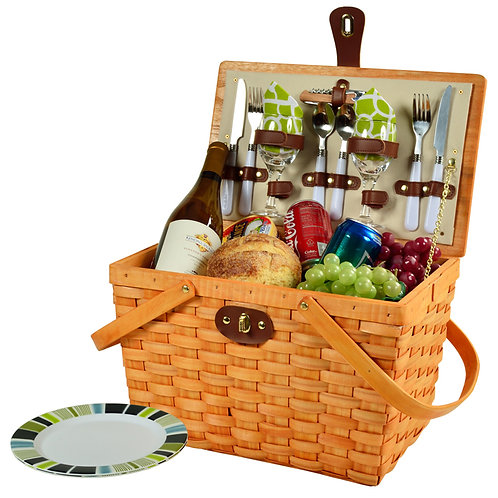 Retro Classic Picnic Basket for Two