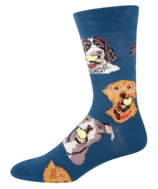 Ball Dog Blue Men's Socks