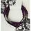 Thumbnail: Hahlia Hematite Silver Wrap Bracelet
