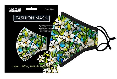 Louis C. Tiffany Field of Lilies Fashion Mask