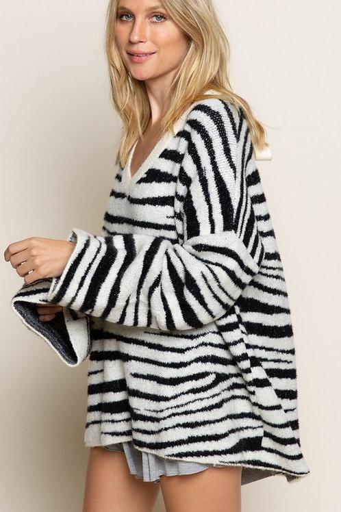 Zebra Bow Sweater