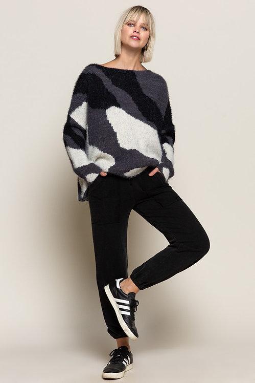 Abstract Zebra Sweater