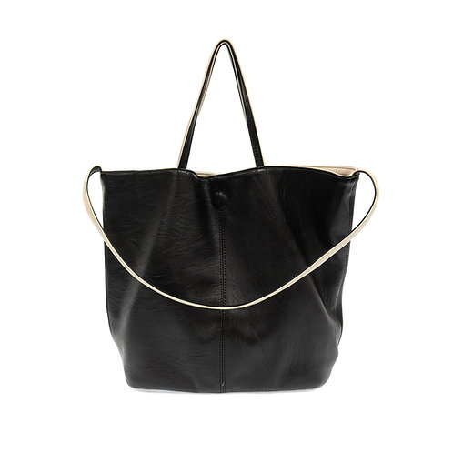 Reversible Slouchy Duo Tote Black