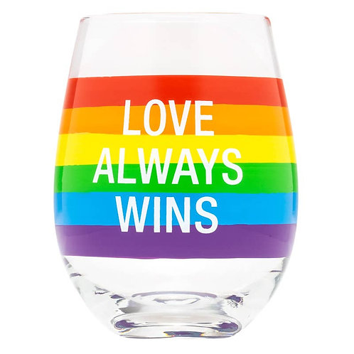 Love Always Wins Wine Glass