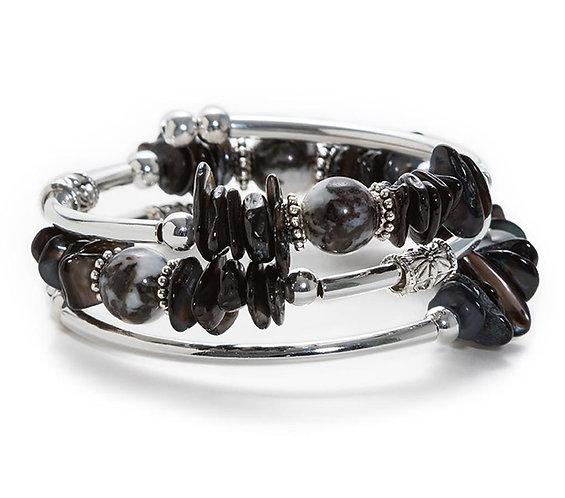 Ebony Spiral Bracelet
