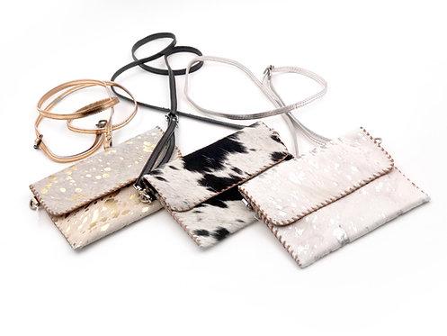 Cowhide Crossbody Wallet Bag
