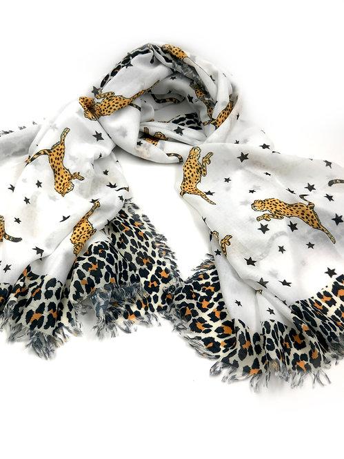 Cheetah Star Scarf