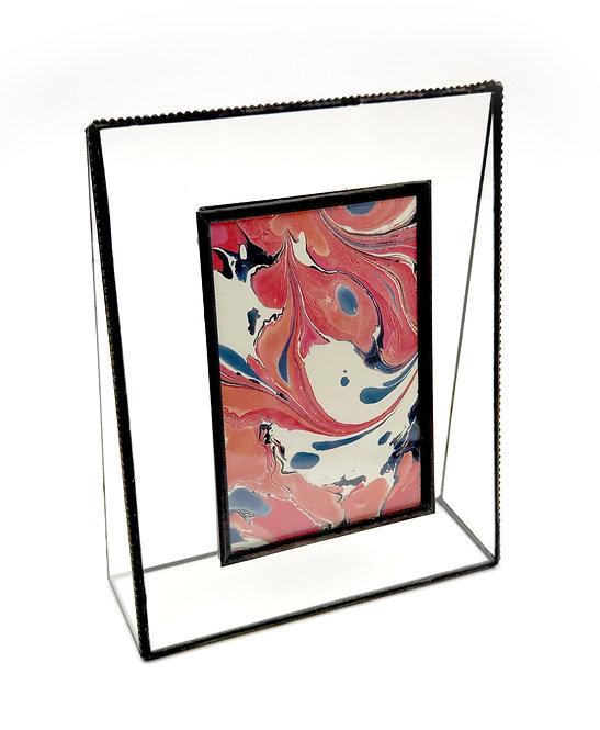 Beaded Edge 4x6 Vertical Glass Frame