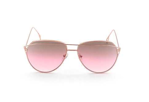 Rose Gold Aviator Sun Glasses
