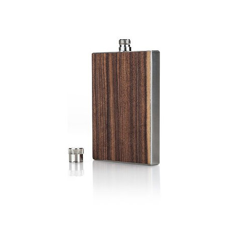 Rosewood Slim Flask