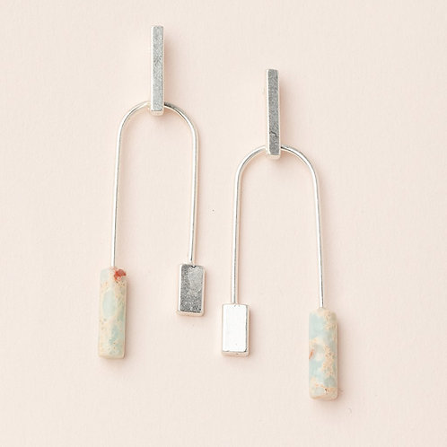 Aqua Stone Balance Earring