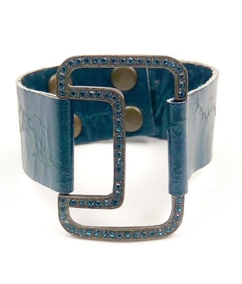 Midnight Leather Bracelet