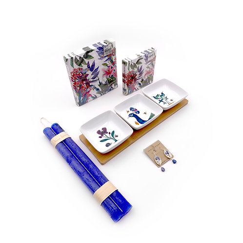 Forget Me Not Peacock Gift Set