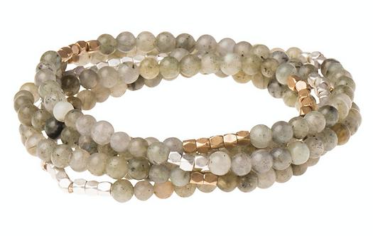 Labradorite Stone Wrap Bracelet
