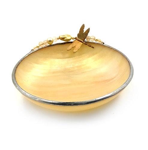 Handmade Glass Beaded Dragonfly Dish