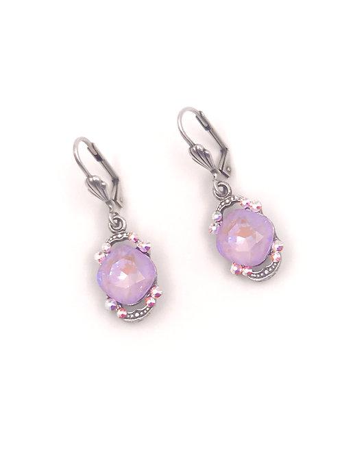 Swarovski Crystal Earrings Pale Lavender