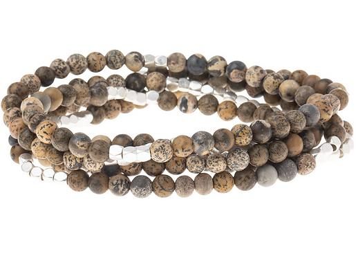 Desert Jasper Stone Wrap Bracelet