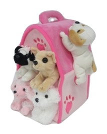 Dog Puppet House Pink