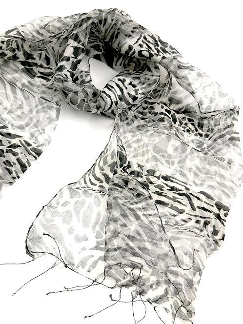 Sheer Silk Scarf Safari