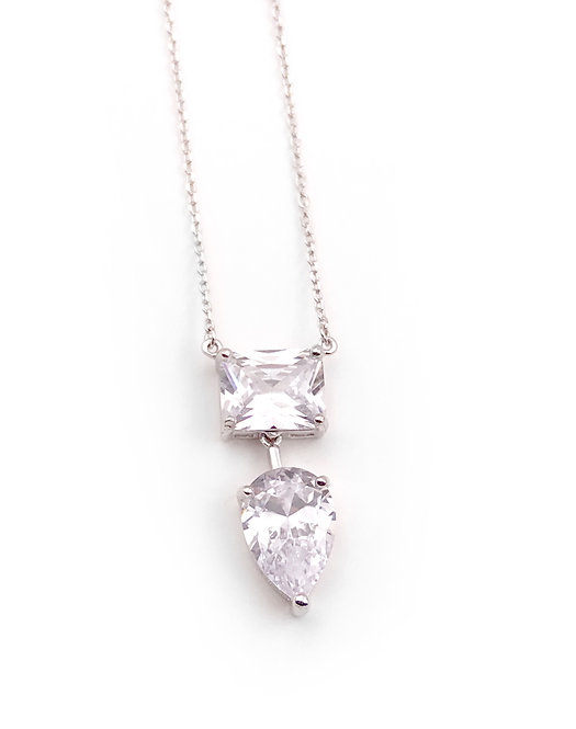 Clear Drop CZ Neck