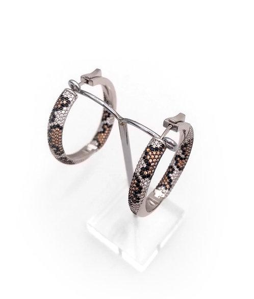 Cheeta Hoop Earrings