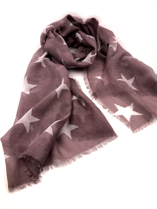 Rouge White Star Scarf