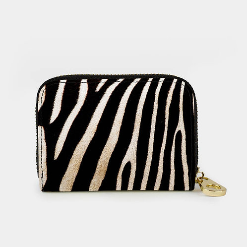 Zebra Zippered Wallet