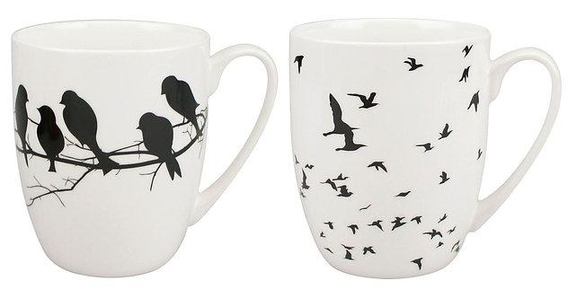 Bird Silhouette Mug Pair Set of 2
