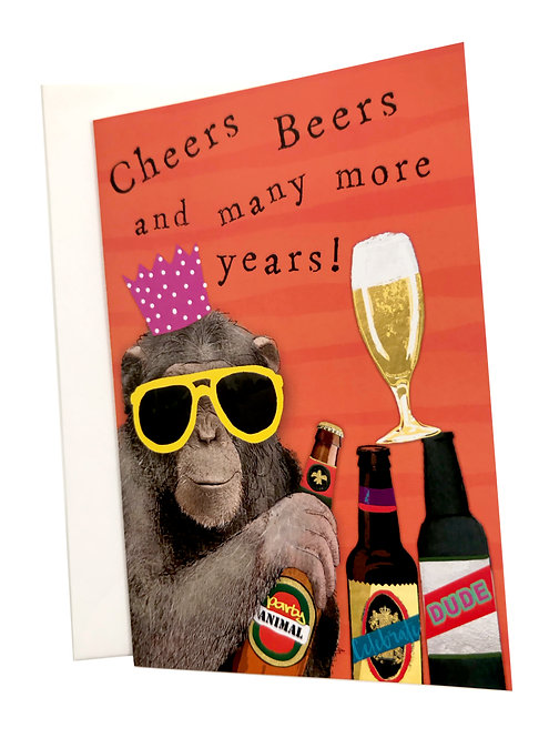 Cheers Beers and many More Years Card