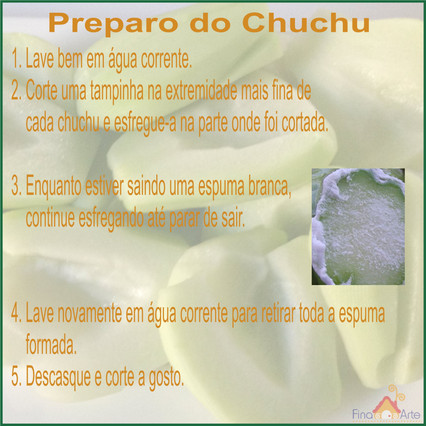 PREPARO DO CHUCHU FINA ARTE