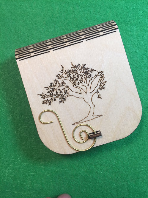Boxed Set of 6 Ornaments Gnarled Tree Outline