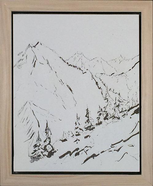 North Cascades view 8x10