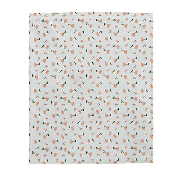 Orange Flower Blanket