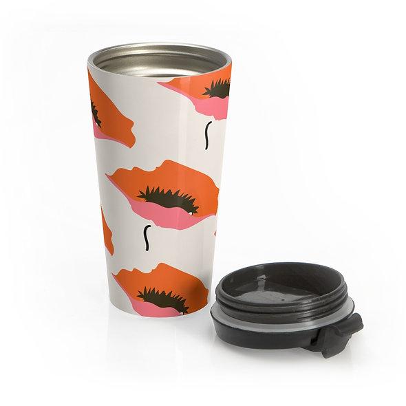 Orange Marimekko Travel Mug