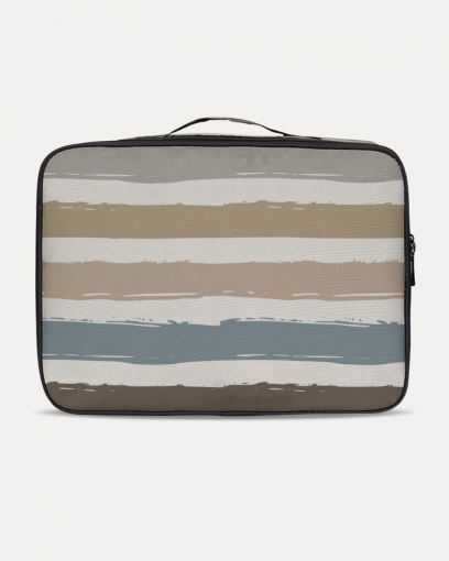 Brown Lines Travel Case