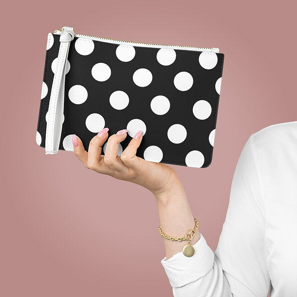 Polka Dots Clutch Bag