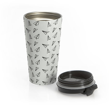 Paper Airplane Eco-Travel Mug