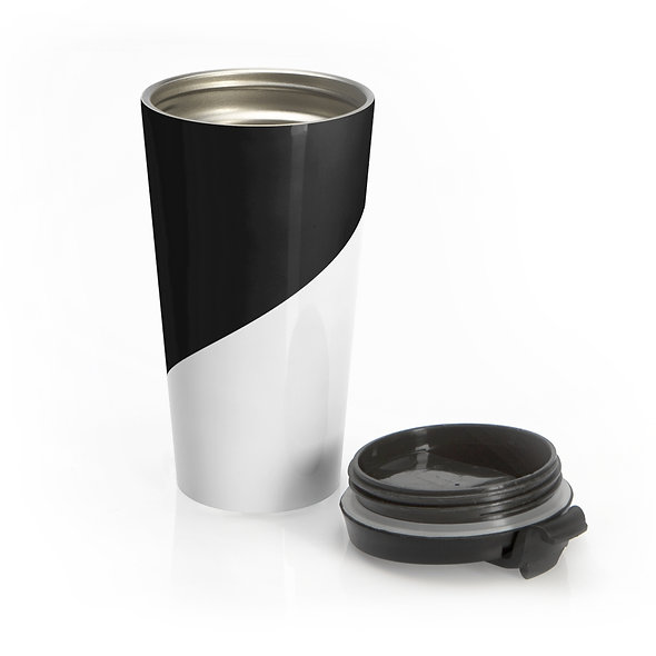 Black & White Travel Mug