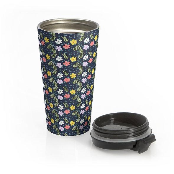 Colorful Flowers Eco-Travel Mug