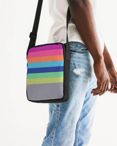 Unisex Rainbow Messenger Pouch