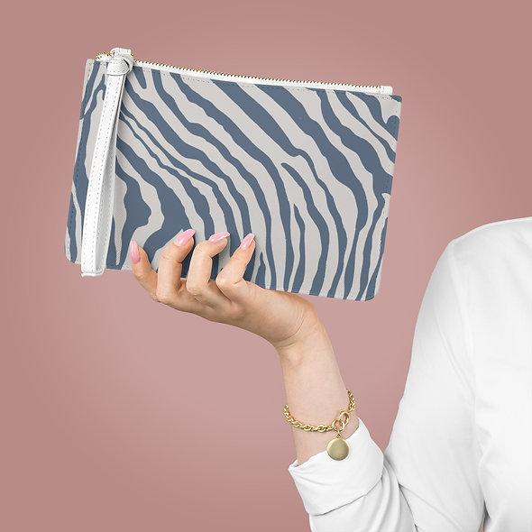 Zebra White Clutch Bag