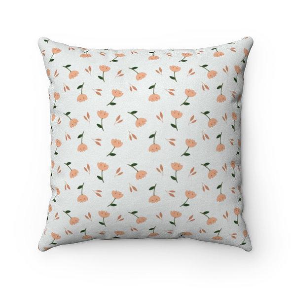 Orange Flower Pillow Case