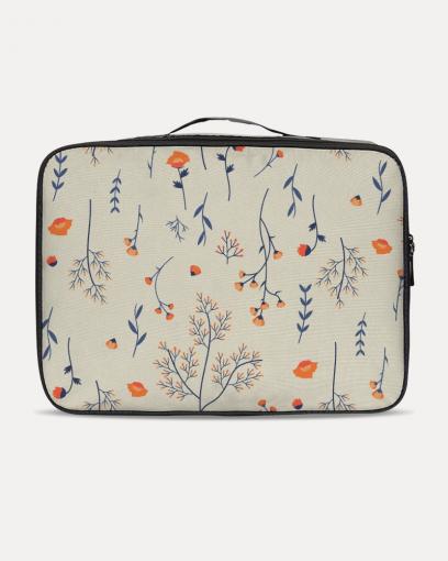 Orange Flowers Travel Case