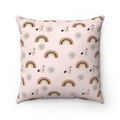Boho Rainbow Pillow Case