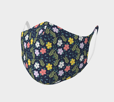 Colorful Flowers Double Knit